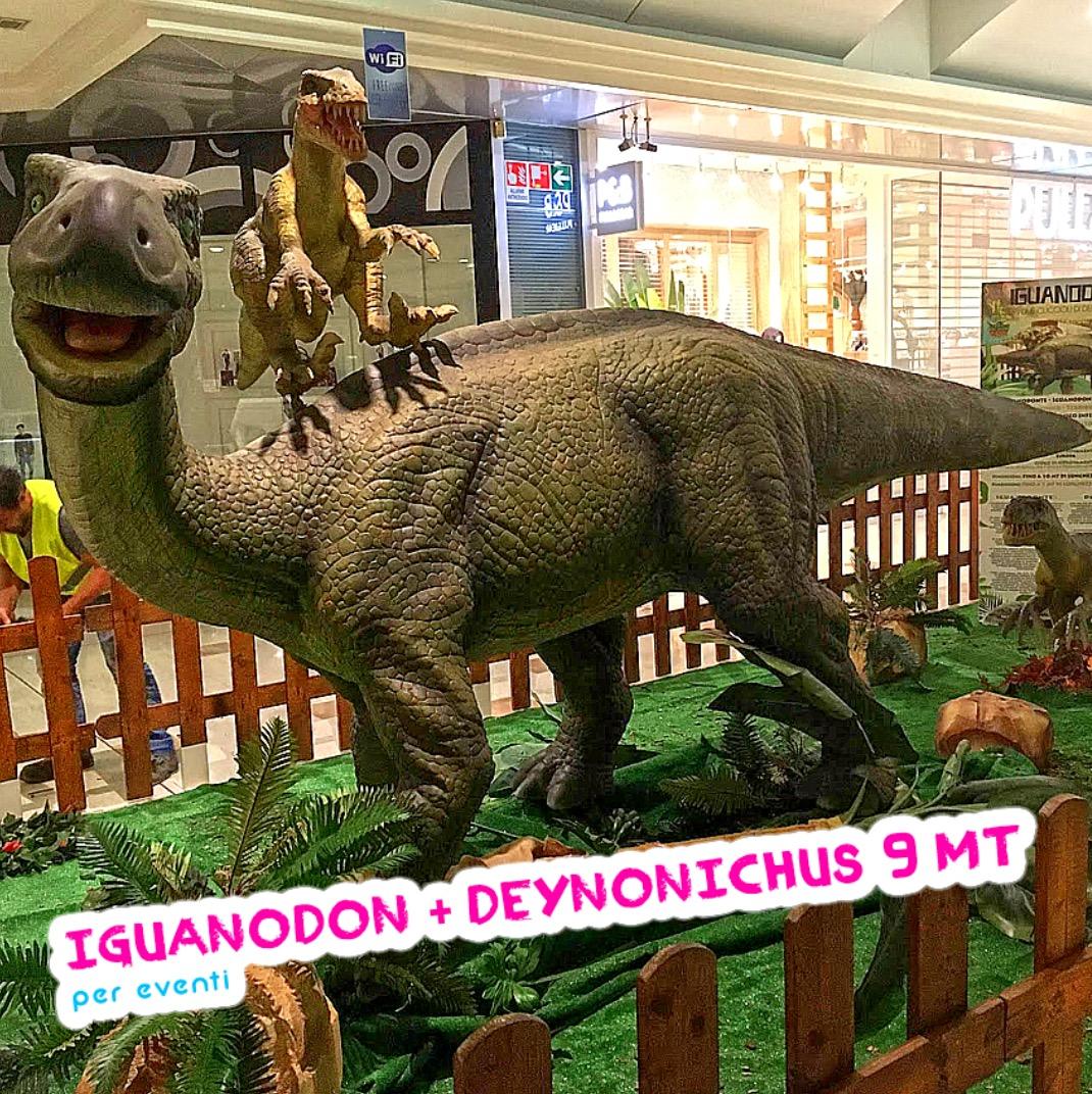 iguanodonte robot dinosauro gigante brescia
