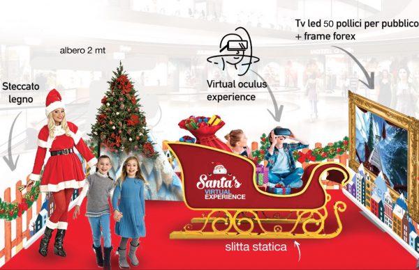 Simulatore virtuale natalizio simulatore VR slitta natale