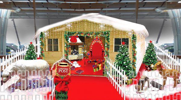 noleggio casa di babbo natale villaggio natalizio
